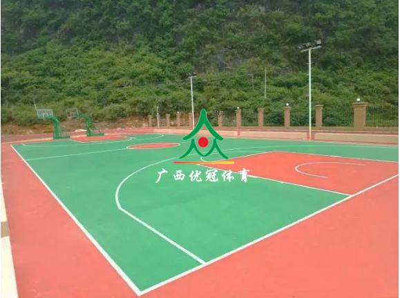 广西硅pu塑胶篮球场