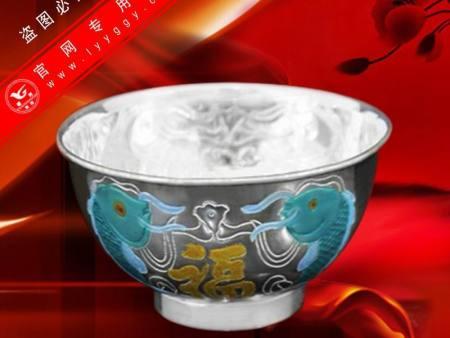 景泰蓝纯银碗(B款)—双鱼福图