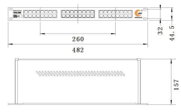 RJ45端子係列機架式信號浪湧保護器